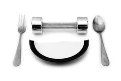 Αλτήρας και ένα σπασμένο πιάτο που εξυπηρετεί για το πρόγευμα Στοκ φωτογραφία με δικαίωμα ελεύθερης χρήσης