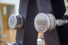 Αλτήρας στο ράφι στο δωμάτιο workout Στοκ Εικόνες