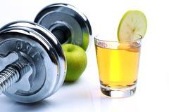 Αλτήρες και πράσινο μήλο Στοκ Εικόνα