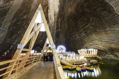Αλυκή Turda αλατισμένου ορυχείου στη Ρουμανία Στοκ Εικόνες