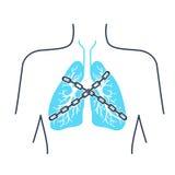 Αλυσίδα άσθματος εικονιδίων διανυσματική απεικόνιση