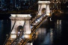 αλυσίδα Ευρώπη Ουγγαρία της Βουδαπέστης γεφυρών Στοκ Εικόνα