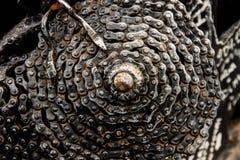 αλυσίδα ποδηλάτων σκουριασμένη Στοκ Φωτογραφίες
