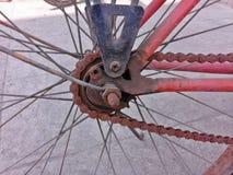 αλυσίδα ποδηλάτων σκουριασμένη Στοκ Φωτογραφία