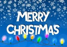 Αλυσίδα των φω'των Χριστουγέννων Στοκ εικόνες με δικαίωμα ελεύθερης χρήσης