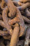 Αλυσίδες σιδήρου στοκ εικόνες