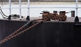 αλυσίδες σκουριασμένες Στοκ φωτογραφία με δικαίωμα ελεύθερης χρήσης