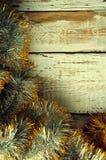Αλυσίδες Χριστουγέννων Τοπ όψη Copypace Στοκ Εικόνες