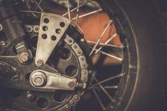 αλυσσοτροχός μοτοσικλετών αλυσίδων Στοκ φωτογραφία με δικαίωμα ελεύθερης χρήσης