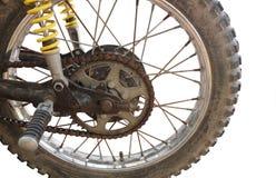 αλυσσοτροχός μοτοσικλετών αλυσίδων Στοκ εικόνες με δικαίωμα ελεύθερης χρήσης