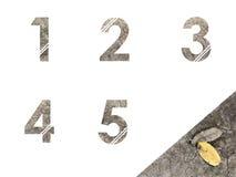 Αλφάβητα αριθμού Στοκ Φωτογραφίες
