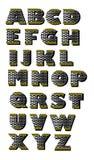 Αλφάβητο από το υλικό metall για το δρόμο Στοκ φωτογραφία με δικαίωμα ελεύθερης χρήσης