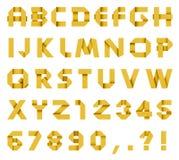 Αλφάβητο από το χρωματισμένο έγγραφο Στοκ φωτογραφία με δικαίωμα ελεύθερης χρήσης