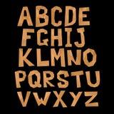 Αλφάβητο εγγράφου. Polygonal επιστολές Στοκ Εικόνα