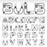 αλφάβητο Επιστολές από το Α στο Ω Στοκ Εικόνα