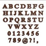 Αλφάβητο επιστολών σοκολάτας Στοκ Εικόνα