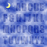 αλφάβητο επιστολών στοκ φωτογραφία με δικαίωμα ελεύθερης χρήσης
