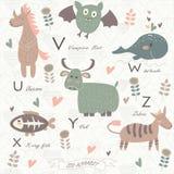 Αλφάβητο ζωολογικών κήπων Στοκ φωτογραφίες με δικαίωμα ελεύθερης χρήσης