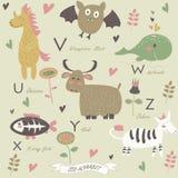 Αλφάβητο ζωολογικών κήπων Στοκ Εικόνα