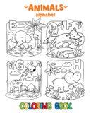 Αλφάβητο ζώων ή ABC γραφική απεικόνιση χρωματισμού βιβλίων ζωηρόχρωμη Στοκ εικόνα με δικαίωμα ελεύθερης χρήσης
