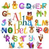 Αλφάβητο ζώων που τίθεται για την εκπαίδευση παιδιών abc στον παιδικό σταθμό Στοκ φωτογραφία με δικαίωμα ελεύθερης χρήσης