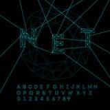 Αλφάβητο διαστημικής τεχνολογίας Στοκ εικόνες με δικαίωμα ελεύθερης χρήσης