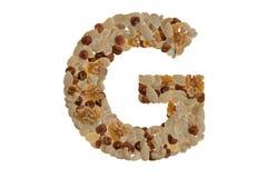 Αλφάβητο καρυδιών στοκ φωτογραφίες