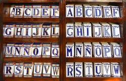 Αλφάβητο κεραμικών κεραμιδιών Στοκ εικόνα με δικαίωμα ελεύθερης χρήσης