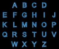 Αλφάβητο κεφαλαίων γραμμάτων ακτίνας X Στοκ Φωτογραφία