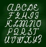 Αλφάβητο κιμωλίας στον πίνακα Στοκ φωτογραφίες με δικαίωμα ελεύθερης χρήσης