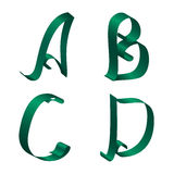 Αλφάβητο κορδελλών Στοκ Φωτογραφία