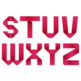 Αλφάβητο κορδελλών Στοκ εικόνες με δικαίωμα ελεύθερης χρήσης