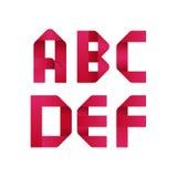Αλφάβητο κορδελλών Στοκ εικόνα με δικαίωμα ελεύθερης χρήσης