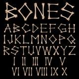 Αλφάβητο κόκκαλων  Στοκ εικόνες με δικαίωμα ελεύθερης χρήσης