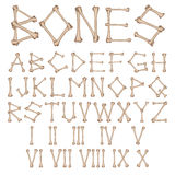 Αλφάβητο κόκκαλων  διανυσματική απεικόνιση