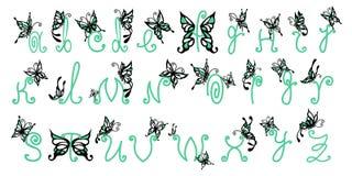 Αλφάβητο πεταλούδων στοκ εικόνες