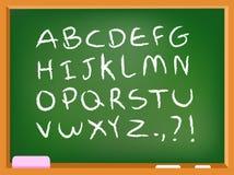 Αλφάβητο πινάκων κιμωλίας διανυσματική απεικόνιση