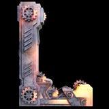 Αλφάβητο που γίνεται μηχανικό από το σίδηρο Στοκ εικόνα με δικαίωμα ελεύθερης χρήσης