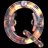 Αλφάβητο που γίνεται μηχανικό από το σίδηρο Στοκ Φωτογραφίες