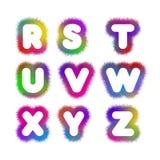 Αλφάβητο Ρ - Ζ Στοκ Εικόνες