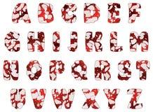 Αλφάβητο σαλαμιού, διάνυσμα Στοκ Εικόνες