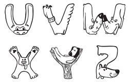 Αλφάβητο σκυλιών Στοκ εικόνα με δικαίωμα ελεύθερης χρήσης