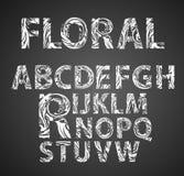 Αλφάβητο σχεδίων χεριών, διανυσματική απεικόνιση Στοκ Φωτογραφίες