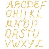 Αλφάβητο σχοινιών Στοκ Εικόνες
