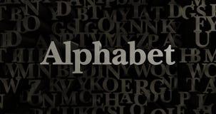 Αλφάβητο - τρισδιάστατη μεταλλική στοιχειοθετημένη απεικόνιση τίτλων Στοκ Φωτογραφία