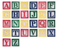 Αλφάβητο των ξύλινων κεφαλαίων γραμμάτων Στοκ εικόνες με δικαίωμα ελεύθερης χρήσης