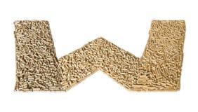 Αλφάβητο φιαγμένο από ξύλινους σβόλους - γράμμα W Στοκ εικόνα με δικαίωμα ελεύθερης χρήσης