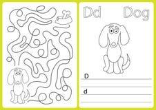 Αλφάβητο AZ - φύλλο εργασίας γρίφων, ασκήσεις για τα παιδιά - χρωματίζοντας βιβλίο Στοκ φωτογραφία με δικαίωμα ελεύθερης χρήσης