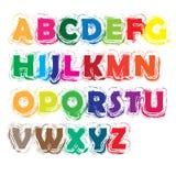 Αλφάβητο AZ χρώματος Στοκ Φωτογραφίες
