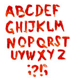Αλφάβητο Bloodly Στοκ εικόνα με δικαίωμα ελεύθερης χρήσης